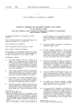 Decisión 2850/2000/CE