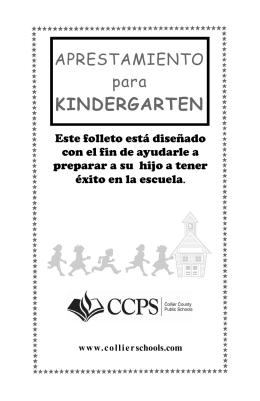 KINDERGARTEN - Collier County Public Schools