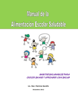 Manual de la Alimentación Escolar Saludable