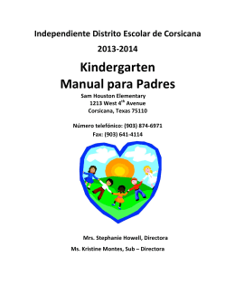 Kindergarten Manual para Padres