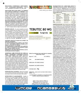 TEBUTEC 80 WG fungicida