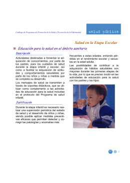 Salud en la Etapa Escolar - Junta de Comunidades de Castilla