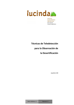 Técnicas de Teledetección para la Observación de la Desertificación