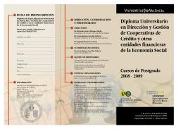 TRIPTICO diploma - Universitat de València