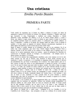 Pardo Bazan, Emilia Condesa de