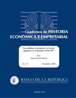 Las políticas económicas y el sector ganadero en Colombia: 1950