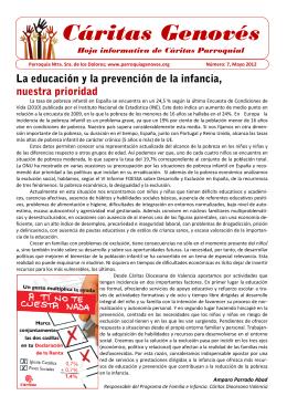 Revista Cáritas 7, mayo 12