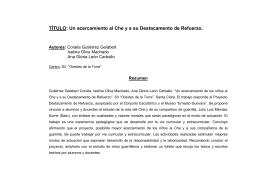 TÍTULO: Un acercamiento al Che y a su Destacamento de Refuerzo.