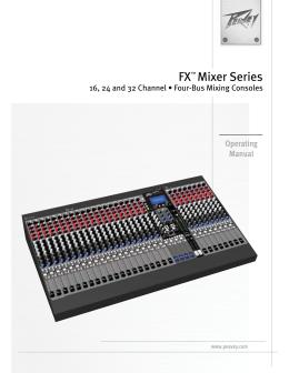FX™ Mixer Series - AV