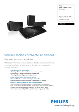 HTS6520/55 Philips Home Theater 2.1 con Ambisound