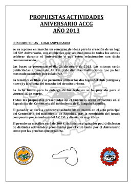 Resumen Actividades ACCG 2013 - Circuito Guadalope de Alcañiz