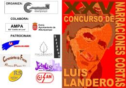 folleto concurso literario Luis Landero