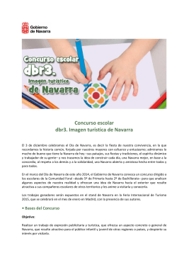 Concurso escolar dbr3. Imagen turística de Navarra