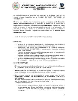 NORMATIVA DEL CONCURSO INTERNO DE AUTOMATIZACIÓN