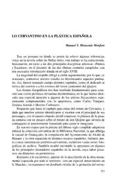 Lo cervantino en la Plástica Española
