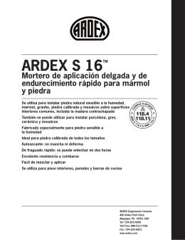 ARDEX S 16TM - ARDEX Americas