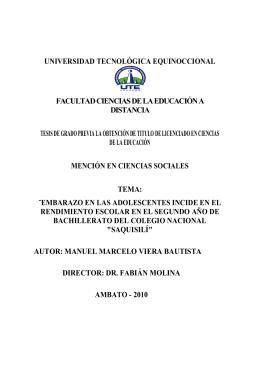 universidad tecnológica equinoccional facultad ciencias de la
