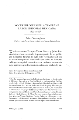 VOCES EUROPEAS EN LA TEMPRANA LABOR EDITORIAL