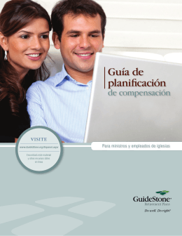 Guía de planificación - GuideStone Financial Resources