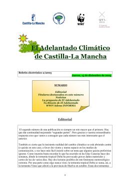TTULO: EL ADELANTADO CLIMTICO de CLM