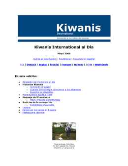 Kiwanis International al Día