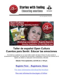 Taller de español Open Cultura Cuentos para