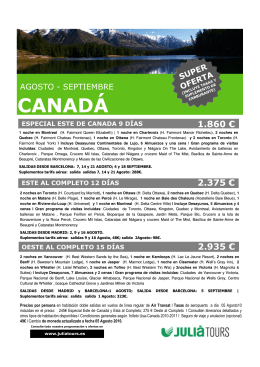 CANADÁ - JuliaTours