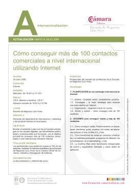 Como conseguir más de 100 contactos comerciales internacionales