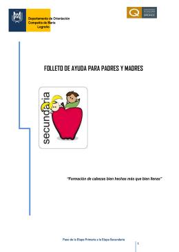 FOLLETO DE AYUDA PARA PADRES Y MADRES - Familias-Lar