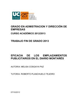 Melisa Cosgaya Paz - Universidad de Cantabria