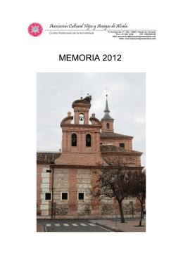 MEMORIA 2012 - Hijos y Amigos de Alcalá