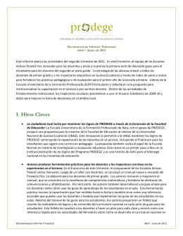 I. Hitos Claves - PRODEGE–Guinea Ecuatorial