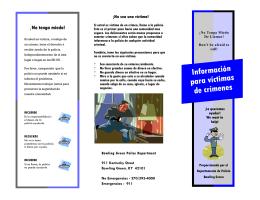 Información para víctimas de crímenes