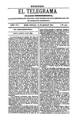 diario progresista Año III, núm. 532, miércoles 19 de agosto de 1891