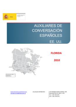 AUXILIARES DE CONVERSACIÓN ESPAÑOLES