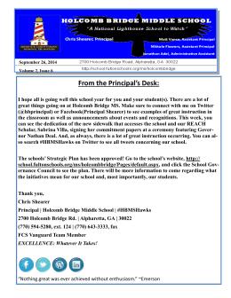 Newsletter-9-29-14 - Fulton County Schools