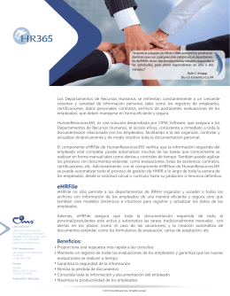 folleto HR365 - Cima Latin America