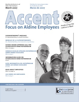 Focus on Aldine Employees - Aldine Independent School District