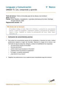 Lenguaje y Comunicación 5° Básico