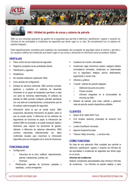 Folleto SMU  - ICTS Europe Systems
