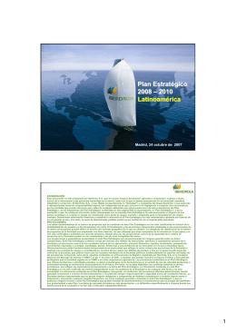 Plan Estratégico 2008 – 2010 Latinoamérica