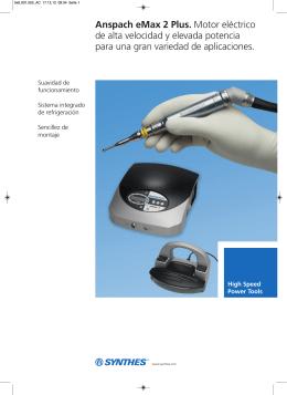 Anspach eMax 2 Plus. Motor eléctrico de alta velocidad y