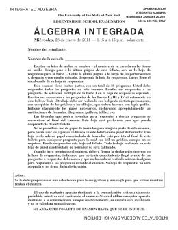 ÁLGEBRA I NTEGRADA