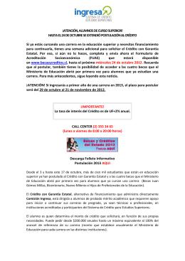 ¡ATENCIÓN, ALUMNOS DE CURSO SUPERIOR! HASTA EL 24 DE