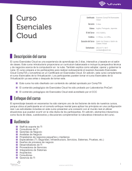 Curso Esenciales Cloud