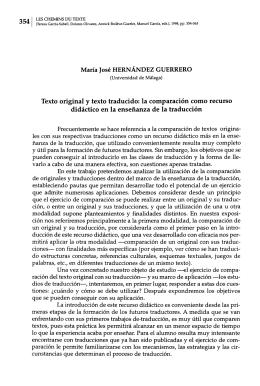Texto original y texto traducido: la comparación como recurso