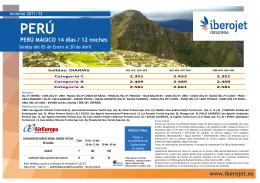 02LT1 Perú Mágico Actual.Enero-Abril