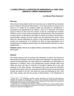 la ereccion de la diocesis - Biblioteca Digital Universidad del Valle