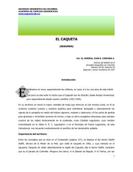 El Caquetá - Sociedad Geográfica de Colombia