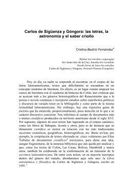 Carlos de Sigüenza y Góngora: las letras, la astronomía y el saber